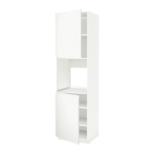 METOD high cab f oven w 2 doors/shelves