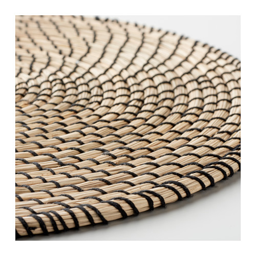 LÄTTAD - place mat, seagrass/black | IKEA Hong Kong and Macau - PE606387_S4