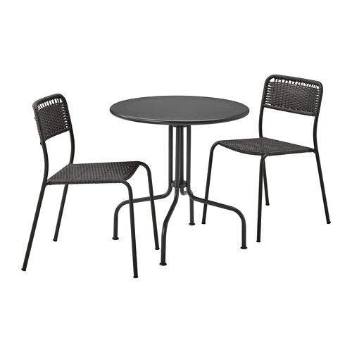 LÄCKÖ/VIHOLMEN - 戶外餐檯椅組合, 灰色/深灰色 | IKEA 香港及澳門 - PE806338_S4