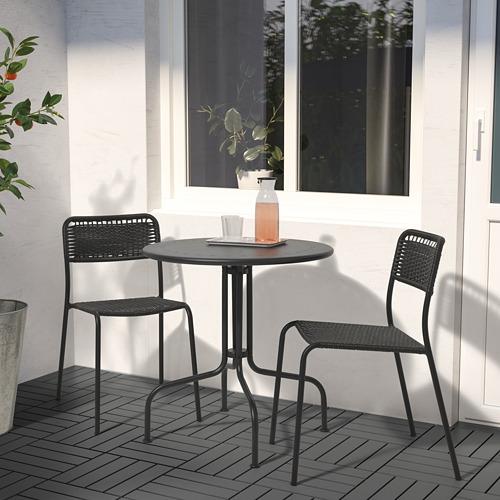 LÄCKÖ/VIHOLMEN - 戶外餐檯椅組合, 灰色/深灰色 | IKEA 香港及澳門 - PE806341_S4