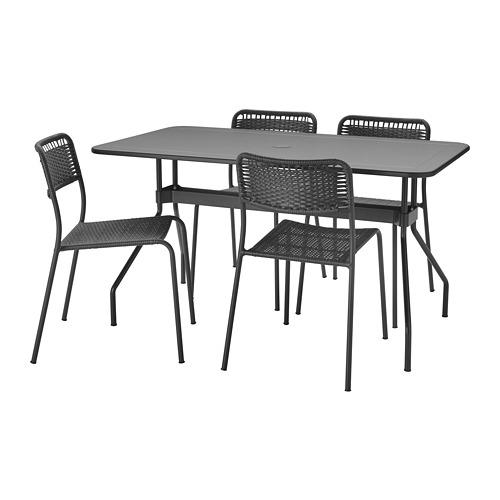 VIHOLMEN/VIHOLMEN - table+4 chairs, outdoor, dark grey/dark grey | IKEA Hong Kong and Macau - PE806340_S4