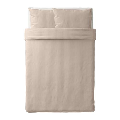 NATTJASMIN - 被套連2個枕袋, 淺米黃色, 200x200/50x80 cm   IKEA 香港及澳門 - PE712039_S4