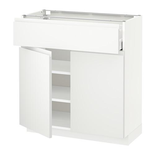 METOD/MAXIMERA - base cabinet with drawer/2 doors, white/Voxtorp matt white | IKEA Hong Kong and Macau - PE544009_S4