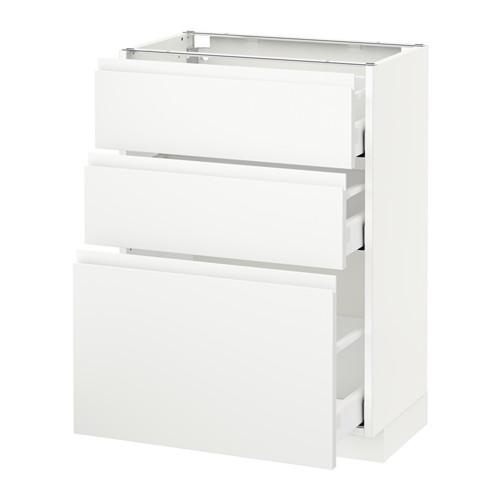 METOD - 3層抽屜地櫃, 白色 Maximera/Voxtorp 啞白色 | IKEA 香港及澳門 - PE544047_S4