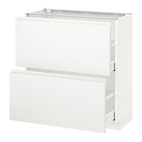 METOD - base cabinet with 2 drawers, white Maximera/Voxtorp matt white | IKEA Hong Kong and Macau - PE544064_S4