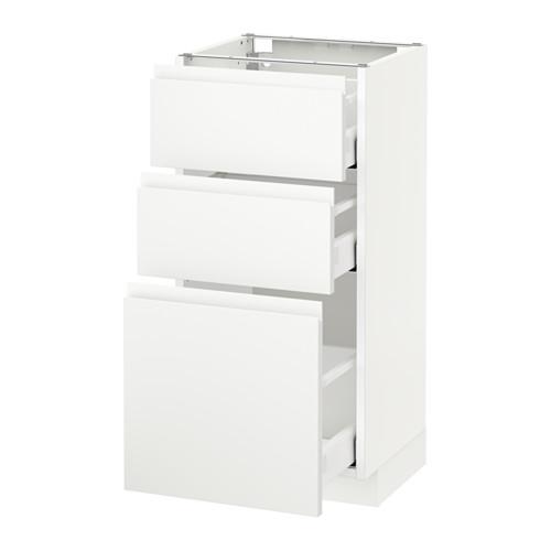 METOD - 3層抽屜地櫃, 白色 Maximera/Voxtorp 啞白色 | IKEA 香港及澳門 - PE544085_S4