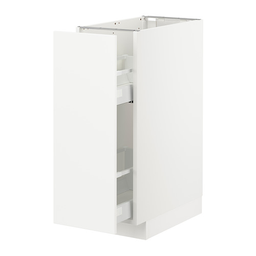 METOD - base cabinet/pull-out int fittings, white/Veddinge white | IKEA Hong Kong and Macau - PE711074_S4