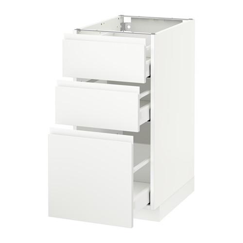 METOD - 3層抽屜地櫃, 白色 Maximera/Voxtorp 啞白色 | IKEA 香港及澳門 - PE544265_S4
