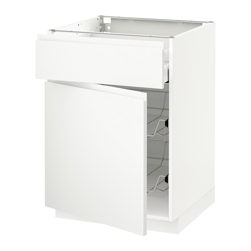 METOD/MAXIMERA - base cab w wire basket/drawer/door, white/Voxtorp matt white | IKEA Hong Kong and Macau - PE544458_S4