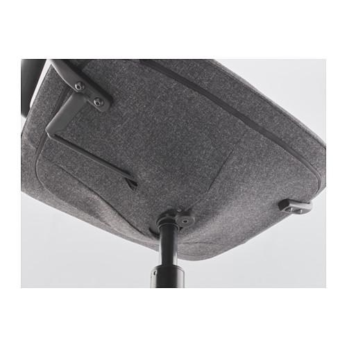 LÅNGFJÄLL 旋轉椅連扶手, gunnared 深灰色/黑色