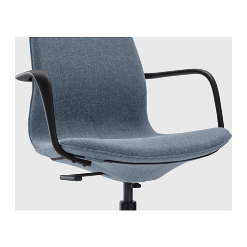 LÅNGFJÄLL - conference chair with armrests, Gunnared blue/black | IKEA Hong Kong and Macau - PE607076_S4