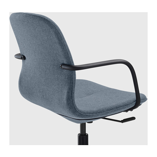 LÅNGFJÄLL - conference chair with armrests, Gunnared blue/black | IKEA Hong Kong and Macau - PE607077_S4