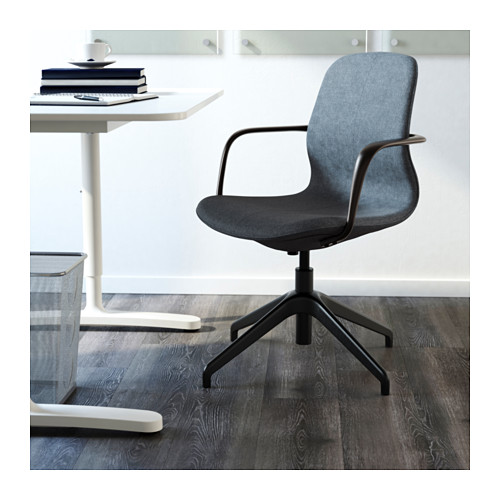 LÅNGFJÄLL - conference chair with armrests, Gunnared blue/black | IKEA Hong Kong and Macau - PE607075_S4