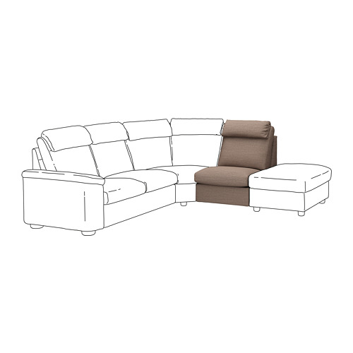 LIDHULT - 1-seat section, Lejde beige/brown | IKEA Hong Kong and Macau - PE711216_S4