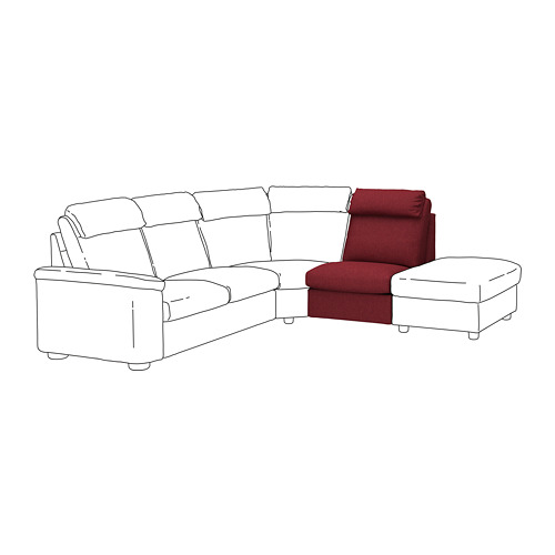 LIDHULT - 1-seat section, Lejde red-brown | IKEA Hong Kong and Macau - PE711218_S4