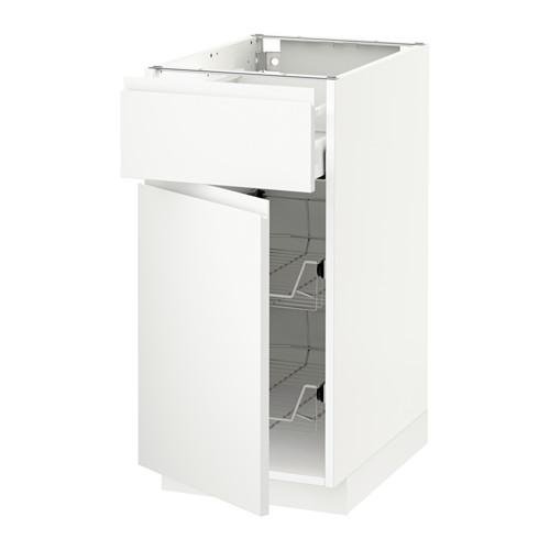 METOD/MAXIMERA - base cab w wire basket/drawer/door, white/Voxtorp matt white | IKEA Hong Kong and Macau - PE544516_S4