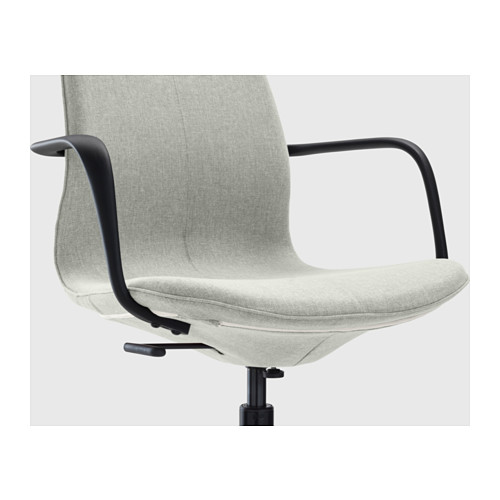 LÅNGFJÄLL - conference chair with armrests, Gunnared light green/black | IKEA Hong Kong and Macau - PE607173_S4