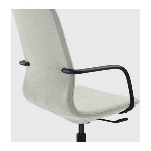 LÅNGFJÄLL - conference chair with armrests, Gunnared light green/black | IKEA Hong Kong and Macau - PE607174_S4