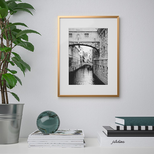 LOMVIKEN - 畫框, 金色   IKEA 香港及澳門 - PE711296_S4