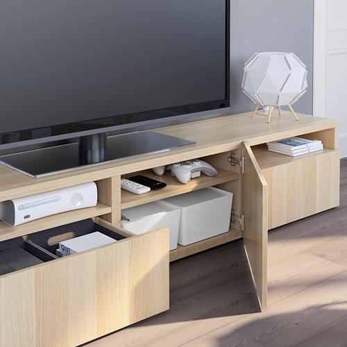 BESTÅ - 電視几, white stained oak effect/Lappviken white stained oak effect   IKEA 香港及澳門 - PE751049_S4