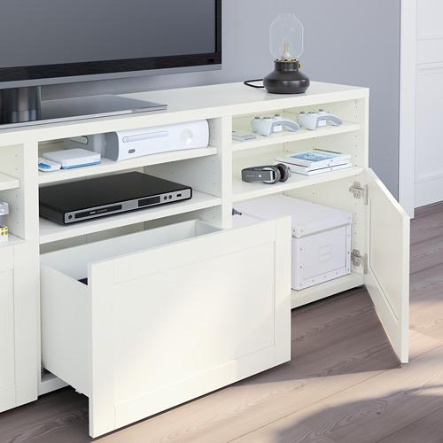 BESTÅ - 電視貯物組合/玻璃門, white/Hanviken white clear glass   IKEA 香港及澳門 - PE751081_S4