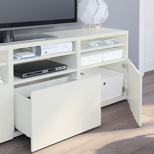 BESTÅ - 電視貯物組合/玻璃門, white/Lappviken white clear glass   IKEA 香港及澳門 - PE751072_S4