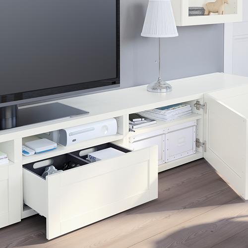 BESTÅ - 電視貯物組合/玻璃門, white/Hanviken white clear glass | IKEA 香港及澳門 - PE751091_S4