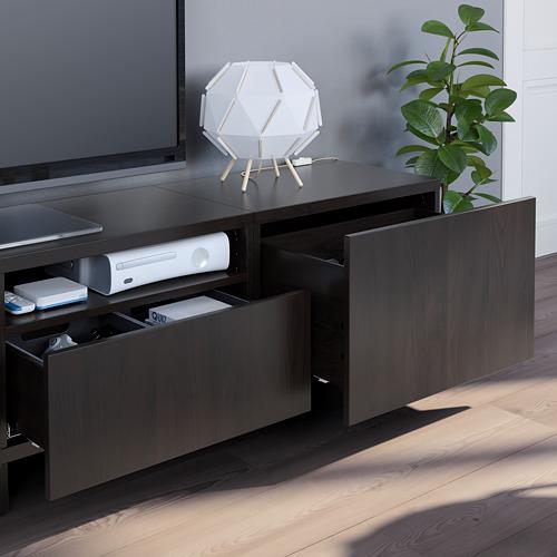 BESTÅ - 電視貯物組合, black-brown/Lappviken/Stubbarp black-brown   IKEA 香港及澳門 - PE751106_S4