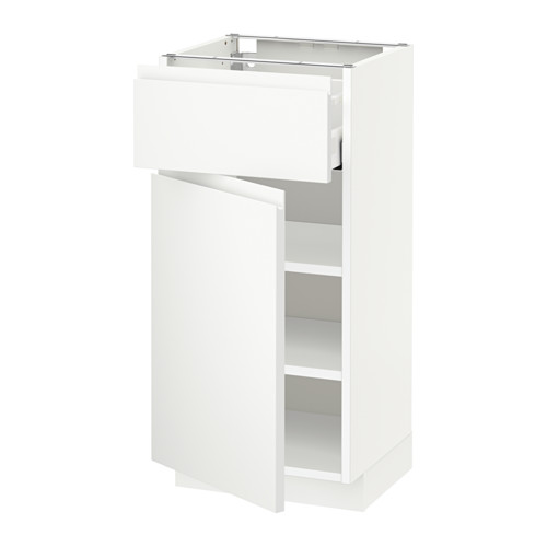 MAXIMERA/METOD - base cabinet with drawer/door, white/Voxtorp matt white | IKEA Hong Kong and Macau - PE544834_S4