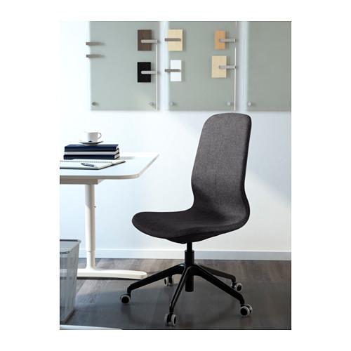 LÅNGFJÄLL - 辦公椅, Gunnared 深灰色/黑色   IKEA 香港及澳門 - PE607408_S4