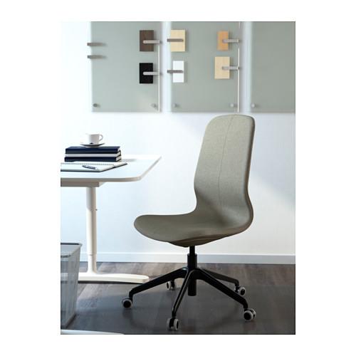 LÅNGFJÄLL - 辦公椅, Gunnared 淺綠色/黑色 | IKEA 香港及澳門 - PE607424_S4