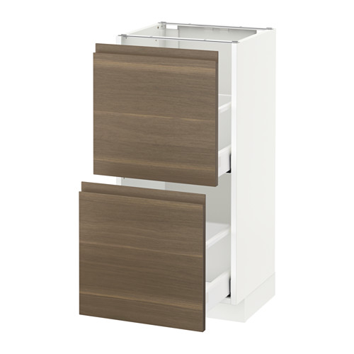 METOD base cabinet with 2 drawers