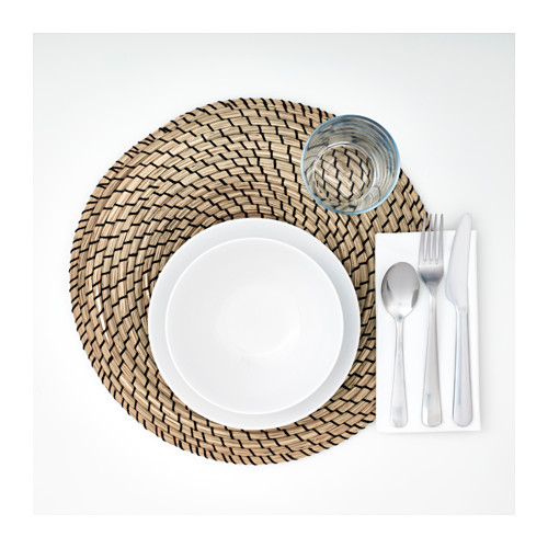 LÄTTAD - place mat, seagrass/black | IKEA Hong Kong and Macau - PE607503_S4