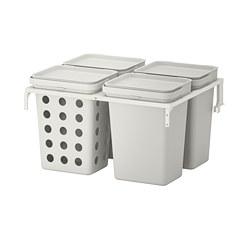 HÅLLBAR - 垃圾分類組合, for METOD kitchen drawer ventilated/light grey | IKEA 香港及澳門 - PE751242_S3