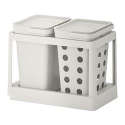 HÅLLBAR - 垃圾分類組合, with pull-out ventilated/light grey | IKEA 香港及澳門 - PE751247_S3