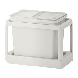 HÅLLBAR - 垃圾分類組合, with pull-out/light grey | IKEA 香港及澳門 - PE751244_S3