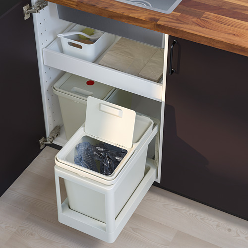 HÅLLBAR - waste sorting solution, with pull-out/light grey | IKEA Hong Kong and Macau - PE751255_S4