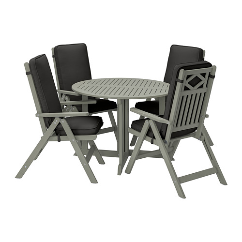 JÄRPÖN/DUVHOLMEN - seat/back cushion, outdoor, anthracite | IKEA Hong Kong and Macau - PE807556_S4