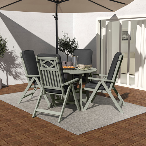 JÄRPÖN/DUVHOLMEN - seat/back cushion, outdoor, anthracite | IKEA Hong Kong and Macau - PE807535_S4