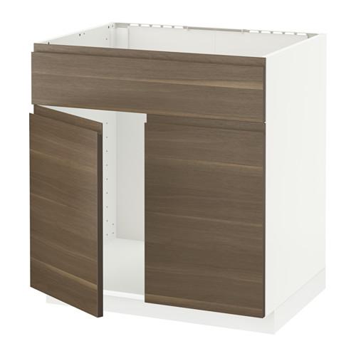 METOD base cabinet f sink w 2 doors/front