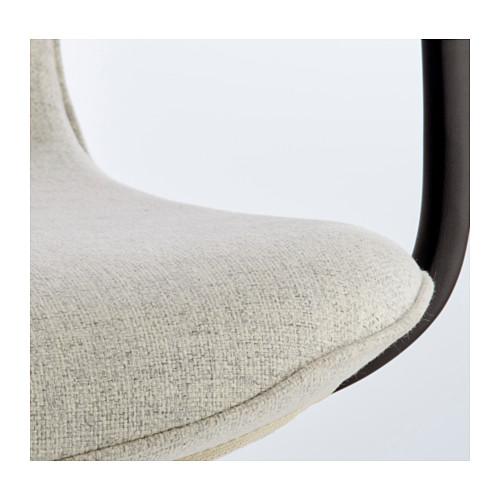 LÅNGFJÄLL - office chair with armrests, Gunnared beige/black   IKEA Hong Kong and Macau - PE607534_S4
