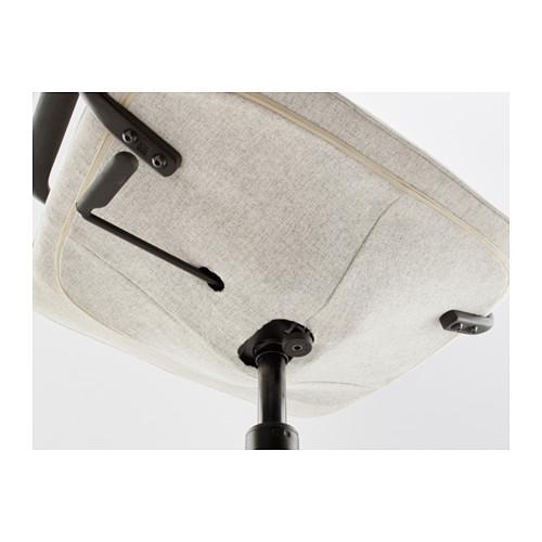 LÅNGFJÄLL - office chair with armrests, Gunnared beige/black   IKEA Hong Kong and Macau - PE607530_S4