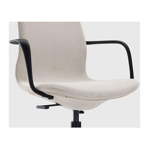 LÅNGFJÄLL - office chair with armrests, Gunnared beige/black   IKEA Hong Kong and Macau - PE607541_S4