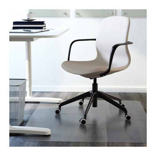 LÅNGFJÄLL - office chair with armrests, Gunnared beige/black   IKEA Hong Kong and Macau - PE607533_S4