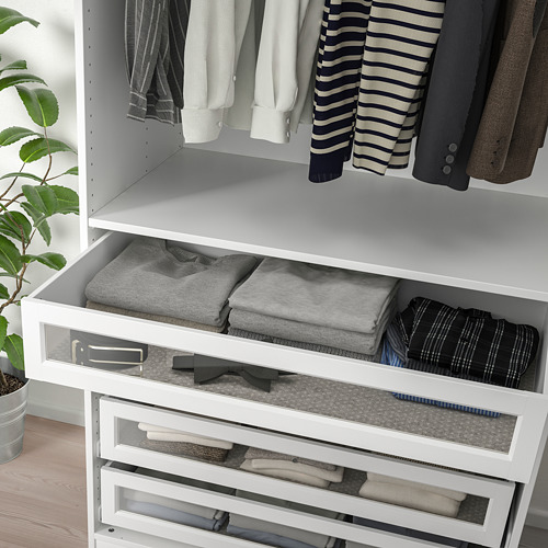KOMPLEMENT - drawer with framed glass front, white   IKEA Hong Kong and Macau - PE751312_S4