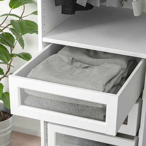 KOMPLEMENT - drawer with framed glass front, white | IKEA Hong Kong and Macau - PE751308_S4
