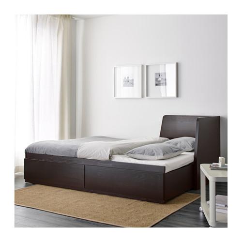 FLEKKE - 日間床連2抽屜及2床褥, 棕黑色/Malfors 高度承托   IKEA 香港及澳門 - PE608742_S4