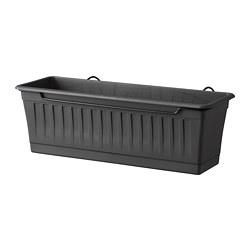 SOMMARFEST - 花盆連支架, 室內/戶外用 炭黑色 | IKEA 香港及澳門 - PE711553_S3