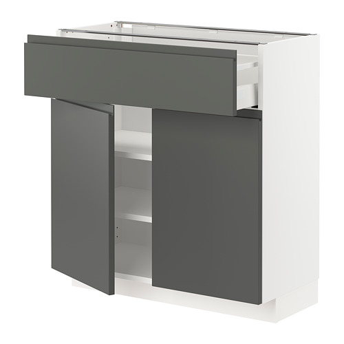METOD/MAXIMERA - base cabinet with drawer/2 doors, white/Voxtorp dark grey | IKEA Hong Kong and Macau - PE751328_S4