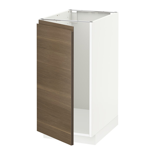 METOD - base cab f sink/waste sorting, white/Voxtorp walnut effect | IKEA Hong Kong and Macau - PE545173_S4